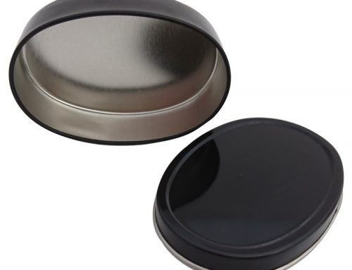 Co4B Mini Oval Canister 84x57x25mm (Black)