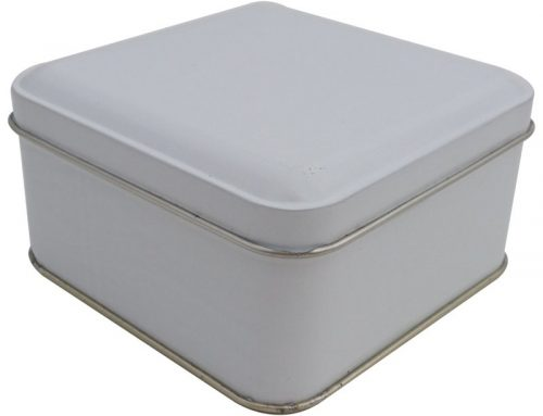 Cr18-W Square Tin Box 99x99x50mm