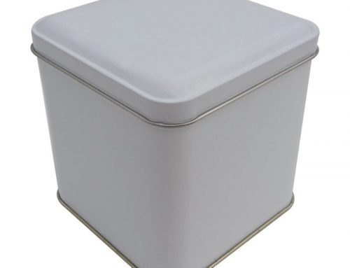 CR19-W Square Tin Box 99x99x100mm
