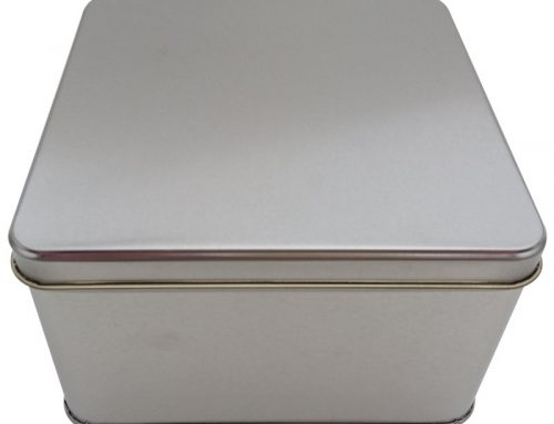 CR25L Square Tin Box 166x166x100mm