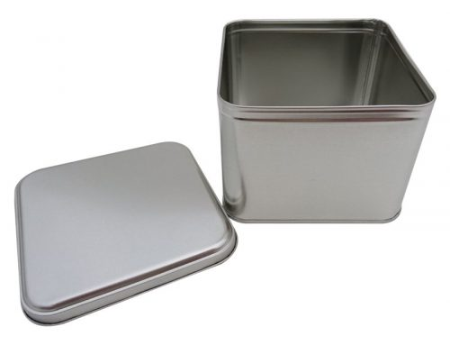CR25-B Square Tin Box 133x133x100mm