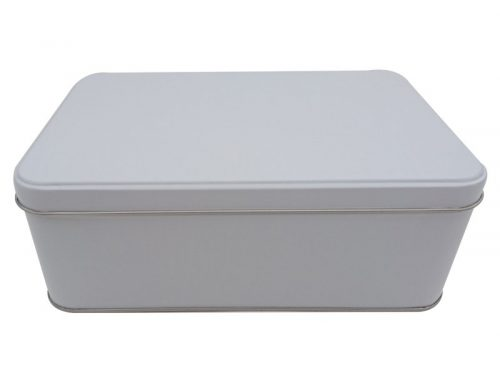 CR28-W Rectangular Tin Box 214x141x75mm (White)