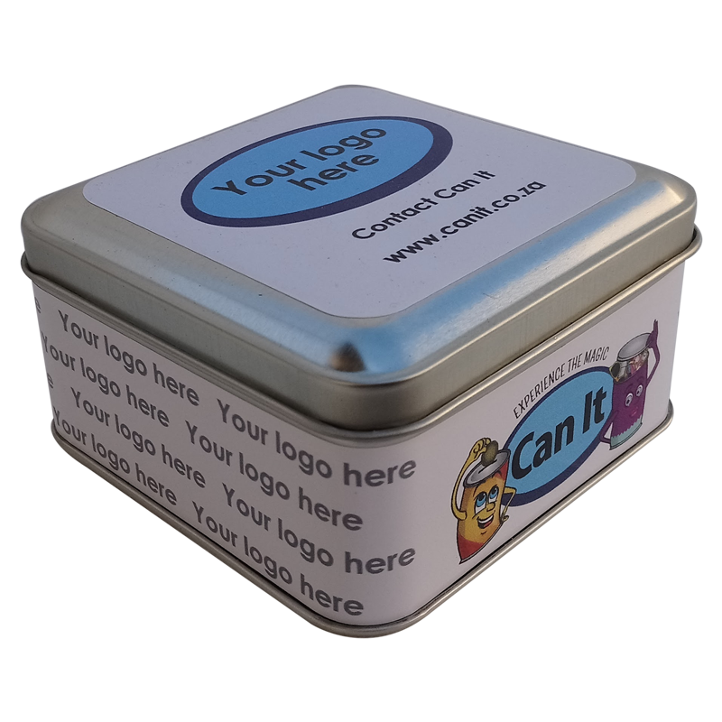 Square Metal Tin Printed with your Branding