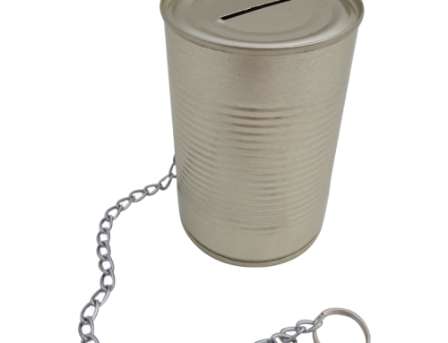 Standard Money Tin with Security Chain