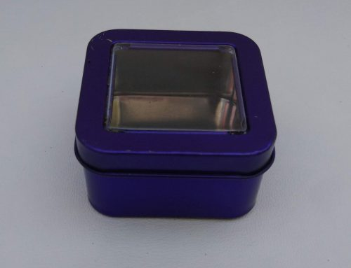 Mini Square Display Tin (Purple) 55x55x30mm