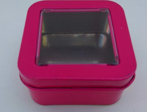 Mini Square Display Tin (Neon Pink) 55x55x30mm