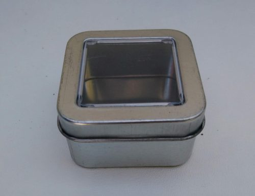 Mini Square Display Tin (Silver) 55x55x30mm