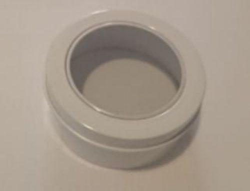 Mini Round Display Tin (White) 65x30mm