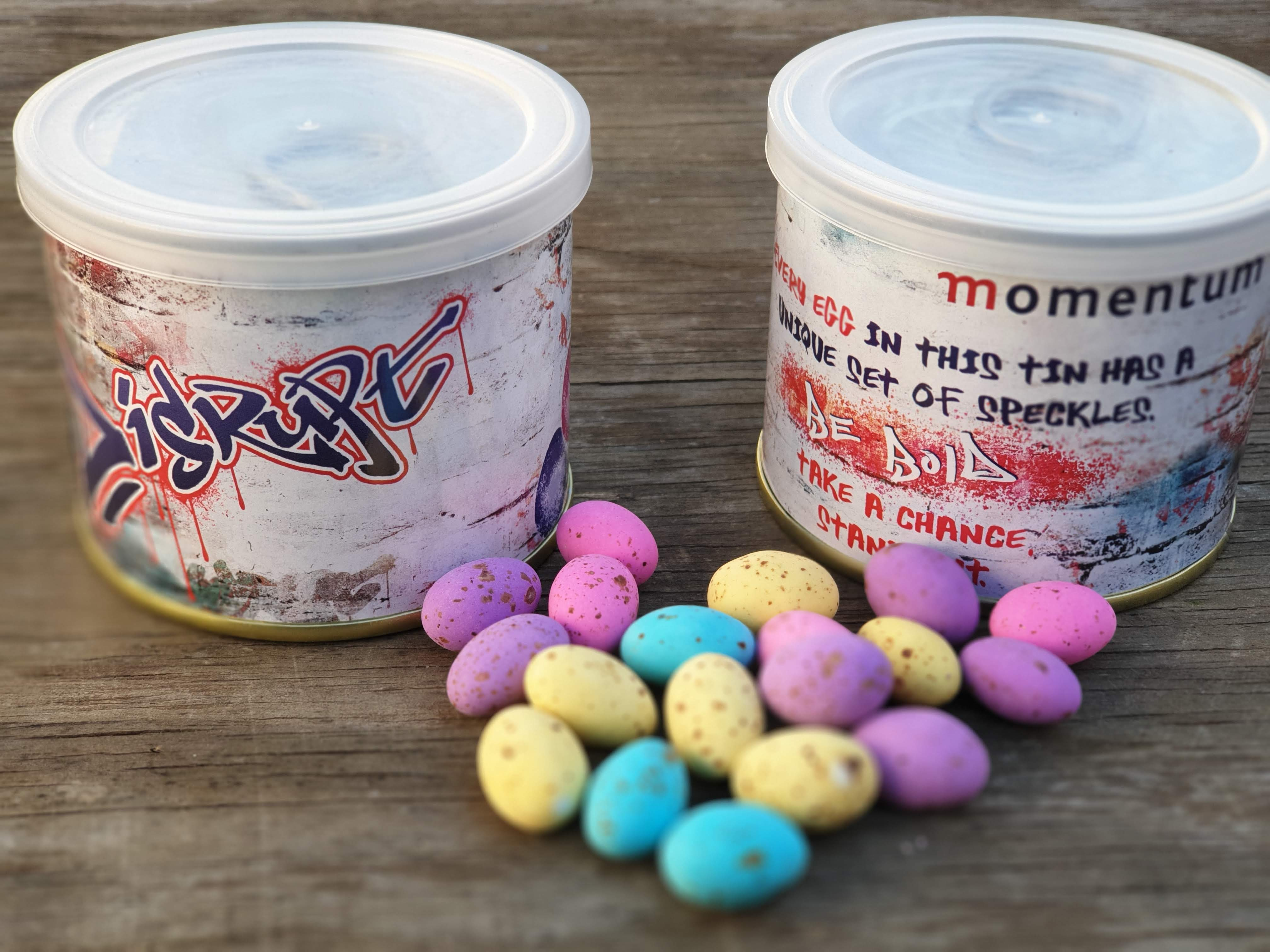 Easter Speckled Eggs in Custom Tins